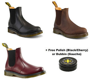 Dr Doc Martens Airwair Mens 2976 Chelsea Dealer Leather Boots Slip ...