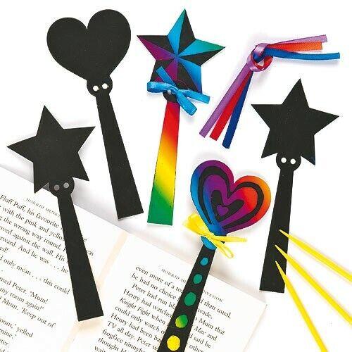 3.6.12 Arc-en-baguette magique Scratch Art signets for Kids Crafts Party Bag Filler