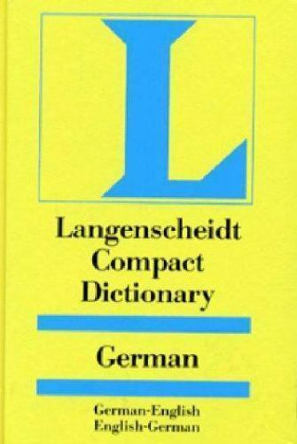 Langenscheidt Compact Dictionary German by Langenscheidt Staff