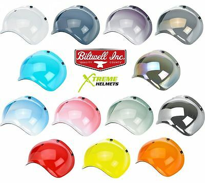 Biltwell Bubble Shield Universal 3 Snap Bonanza Gringo Helmet - FAST SHIP!