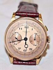 Vintage 18K Gold Suisse Chronographe Men's Manual Wind Pilot Wristwatch