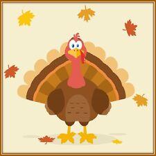 30 Custom Autumn Thanksgiving Turkey Personalized Address Labels