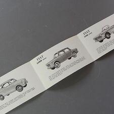 ✇ FIAT 600 D 1100 1500 Spider USA Prospekt brochure 60er-Jahre