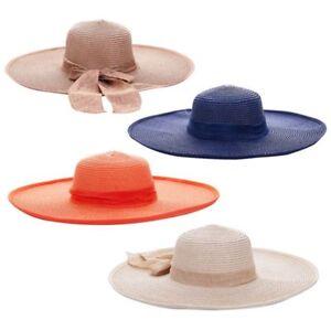 5bf446f7505 Summer Women Floppy Hat Big Bowknot Straw Hat Wide Brim Beach Hat ...