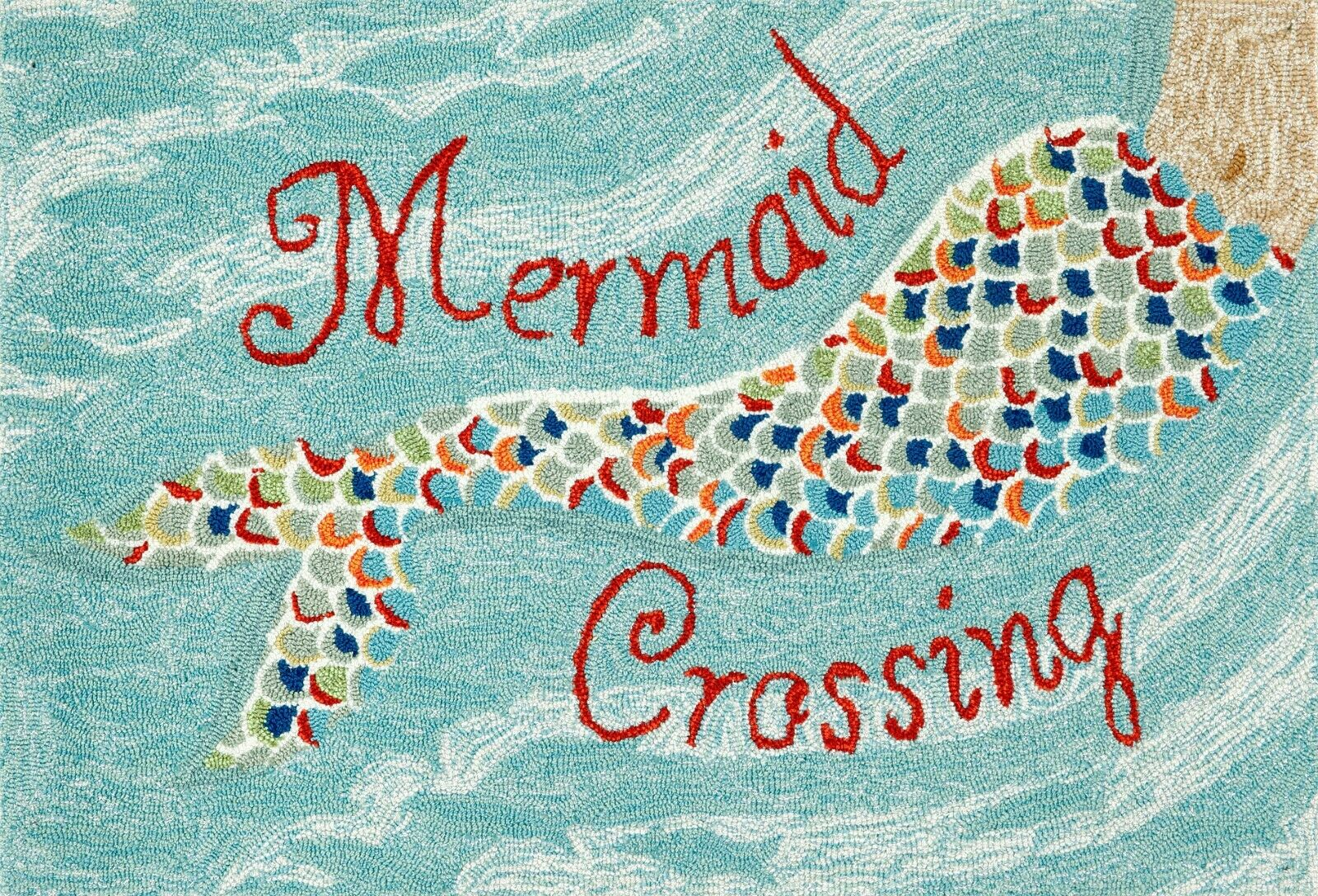 Area Rugs Mermaid Crossing Indoor Outdoor Rug 42 X 66 Nautical Decor
