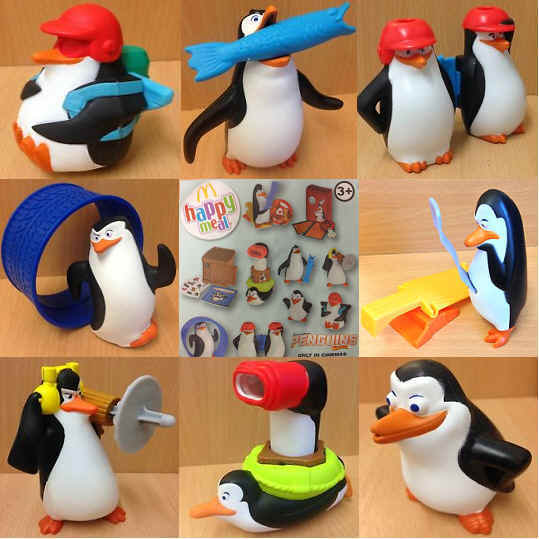 McDonalds Happy Meal Toy 2014 Penguins Madagascar Plastic Toys Various Figures