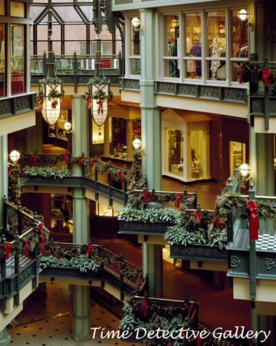 Georgetown Park Mall at Christmas Time - Giclee Photo Print D.C Wash
