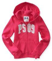 Kids Ps Aeropostale Girls Size 8 Or 10 Zip-front Ps09 Pink Sweatshirt Hoodie