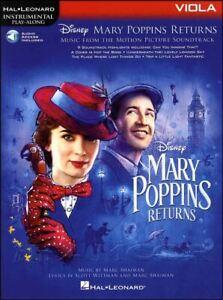 AgréAble Mary Poppins Retours Pour Alto Partitions Livre Audio/disney MÊme Jour ExpÉdition-afficher Le Titre D'origine Facile à RéParer