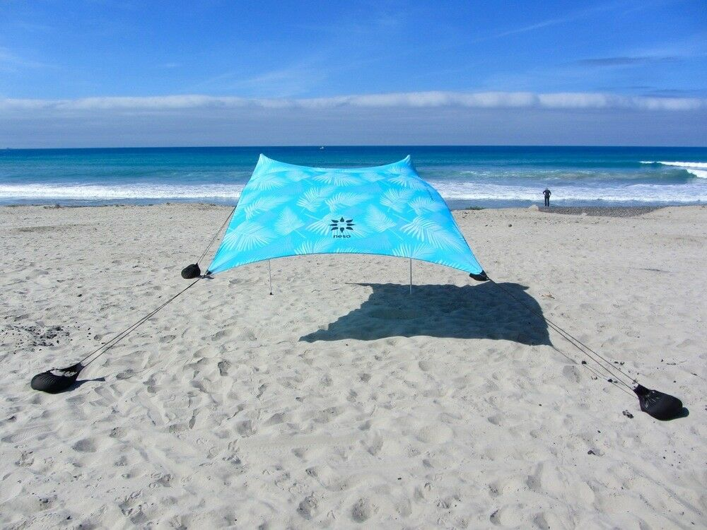 Neso Tents Beach Tent with Sand  Anchor, Portable Canopy Sun Shelter (Aqua Frond)  cheap sale outlet online