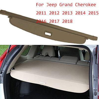 caartonn Cargo cover for 2011-2018 Jeep Grand Cherokee Trunk Retractable Cargo Luggage Security Shade Cover Shield Black