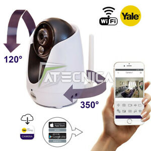 Telecamera-WiFi-Yale-YWIPC-301W-risoluzione-HD720-canale-audio-gestione-con-APP
