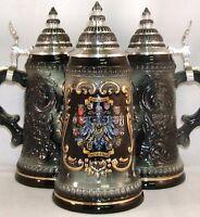 Black 16 German States Shields German Beer Stein .5l One Mug Made In Germany