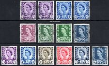 QEII Wales 1958-69 SGW1 - SGW12 Pre-Decimal Definitives Set of 14 Unmounted Mint