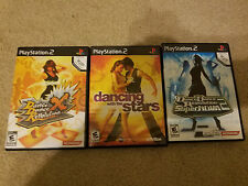 DANCE DANCE REVOLUTION X ,Supernova 2 & Dancing with the stars 3 GAME LOT PS2 !