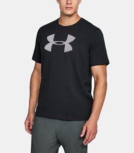 Under Armour Men's Heatgear Short Sleeve Graphic T-Shirt Red Gray Logo