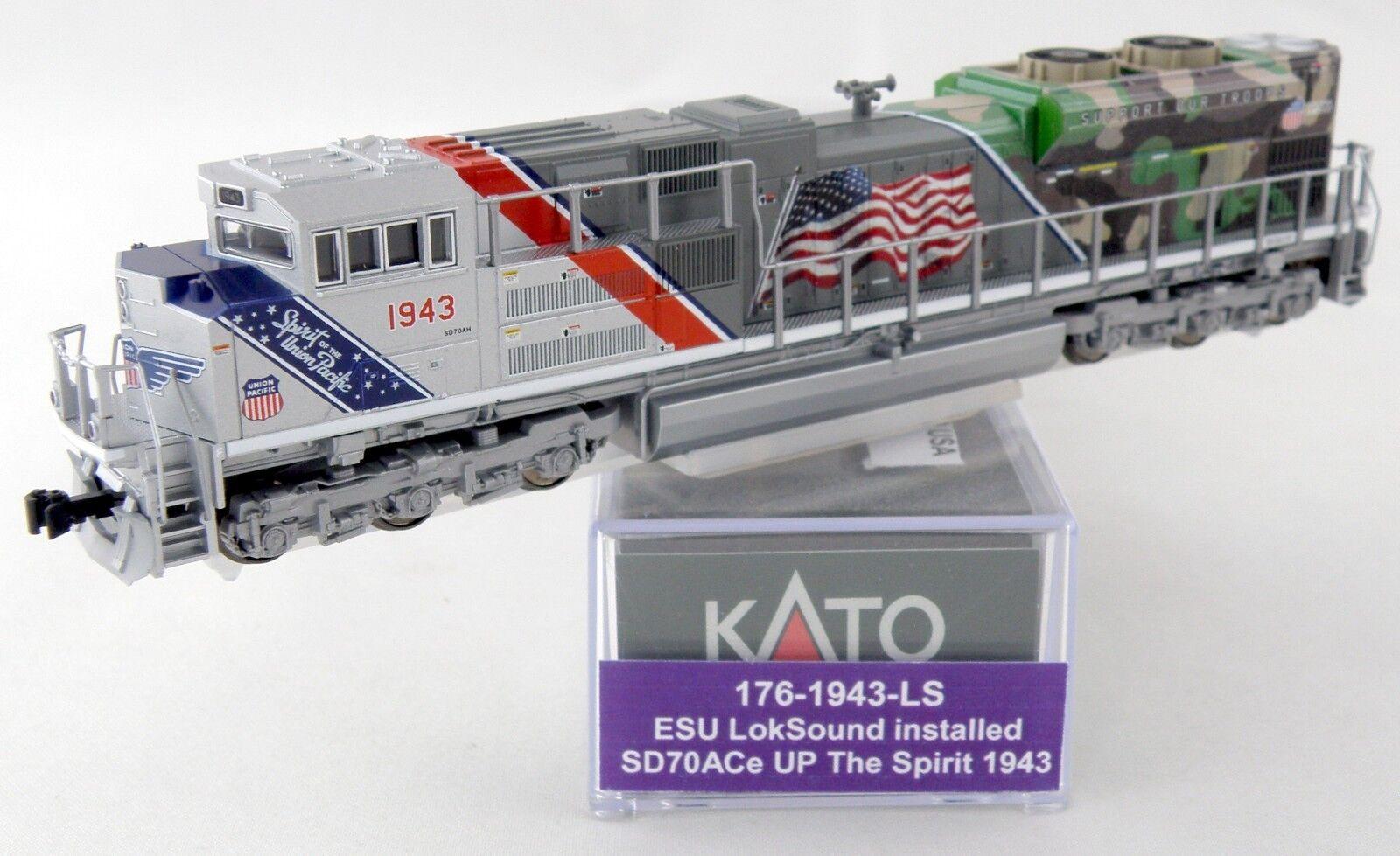 Escala N EMD SD70ACe con DCC y Sonido-Union Sonido-Union Sonido-Union Pacific  el espíritu  Kato 176-1943-LS  Tu satisfacción es nuestro objetivo