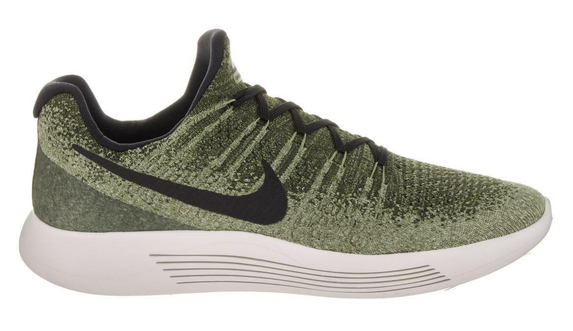 Mens NIKE LUNAREPIC LOW FLYKNIT 2 Rough Green Black Running Trainers 863779 300