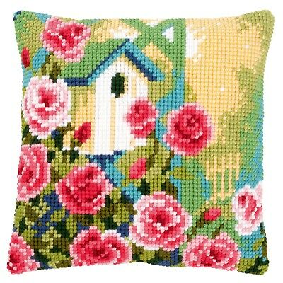 Peacock Feathers Cross Stitch Cushion Front Kit PN-0145969 Vervaco
