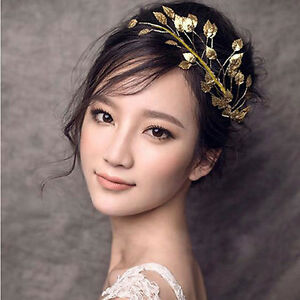 Girls vintage 20s gold leaf headdress headband roman hair crown image is loading girls vintage 20 039 s gold leaf headdress solutioingenieria Gallery