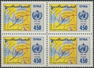 Adaptable Syrie Syria 1990 ** Mi.1792 Bl/4 Meteoroloy Météo Weather Carte Map [st4568]
