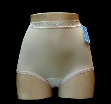 DIXIE BELLE 100% Nylon Lace Band Full-Cut Pearl Beige Brief Plus Size 11/4XL