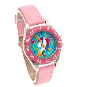 Unicorn-Watch-Girls-Kids-Watches-Children-039-s-Gifts-Leather-Quartz-Wristwatch-U85B