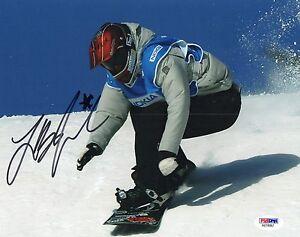 LINDSEY JACOBELLIS HAND SIGNED SNOW BOARDING 8X10 W/ PSA COA AB18987
