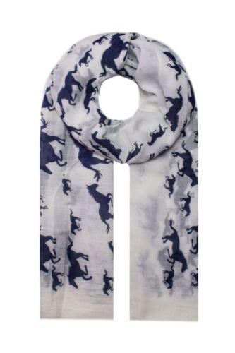 Women Horses Animal Printing Soft Viscose Winter Warm Spring Summer Wrap Scarf