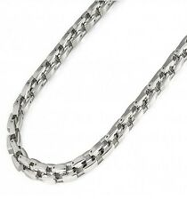 "10mm Men Women Titanium High Polished Box Frame 24"" Chain Link Necklace TiCH413"