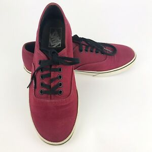 21ae2736e964 VANS Off The Wall Womens Low Top Sneaker Shoe Oxblood Maroon Skate ...