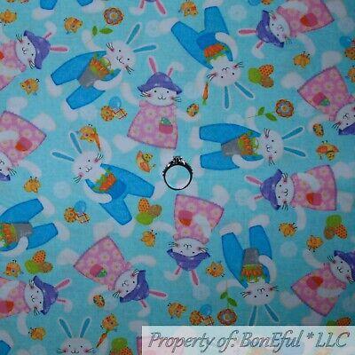 BonEful Fabric FQ Cotton Quilt White Green Blue Orange Number Tape Measure Retro