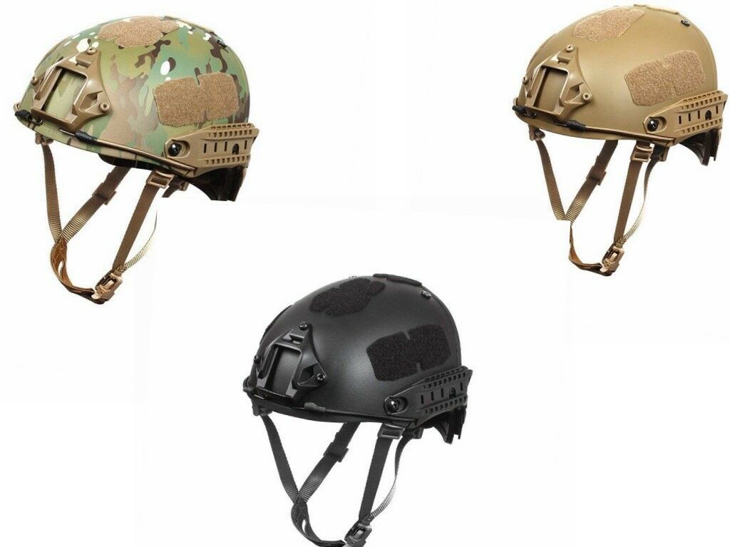 Tactical Fast Helmet, Adjustable ABS Helmet with Side Rails and NVG Mount