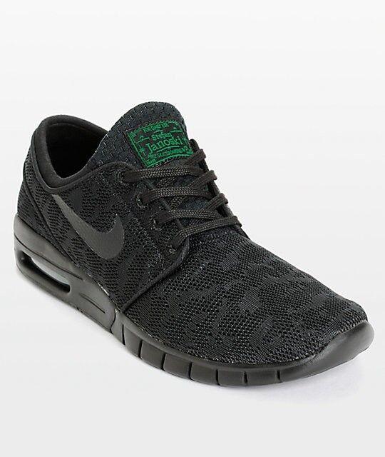 Nike Stefan Janoski Max Black Pine Green shoes631303-003 Men's 6 New With Box