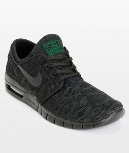 nowy design kupować nowe zniżki z fabryki Details about Nike Stefan Janoski Max Black Pine Green Shoes 631303-003  Men's 6 New With Box