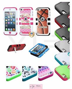 For-Apple-iPod-Touch-6-6th-Gen-Hybrid-Rugged-Protective-Hard-Case-Cover-Stand