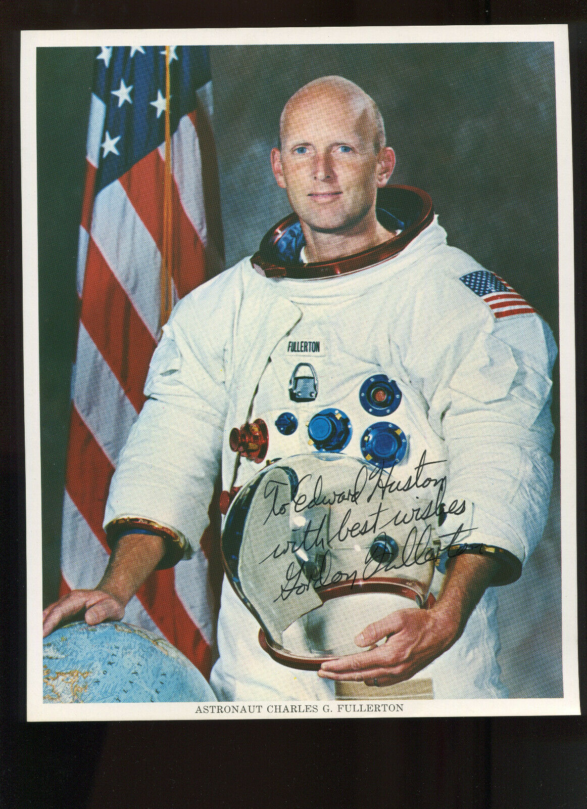 s l1600 - Shuttle STS-3 ASTRONAUT CHARLES 'GORDON' FULLERTON LOT OF 5 SIGNED AUROGRAPHS