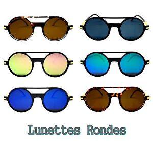 NEW LUNETTES SOLEIL PILOTE ROND HOMME FEMME RONDES MIROIR JUMELLE   eBay 591d7ad206cf