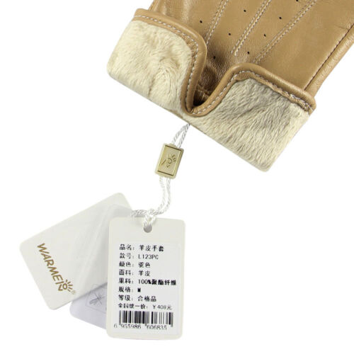 Womens Genuine Nappa Leather Fleece Lined Warm Gloves Many Color On Sale #123