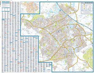 Milton Keynes Premier Map by AZ Maps Wall Map Paper eBay