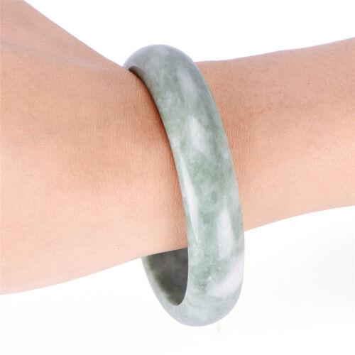 Elegant Genuine Natural Green Jade Gems Bangle Bracelet Handmade Jewelry *tr