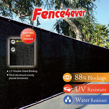 Black 6'x50' Fence Windscreen Privacy Screen Shade Cover Fabric Mesh Garden