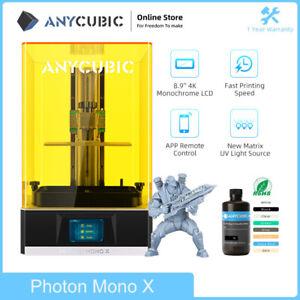 ANYCUBIC UV Résine Photon Mono X Imprimante 3D Printer  MAX 60mm/h 192x120x250mm