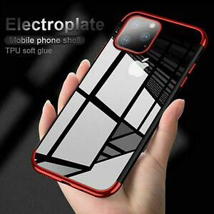 Coque pour iPhone 11 Pro XR X XS MAX 8 7 Silicone Antichoc Housse Slim Coque en TPU