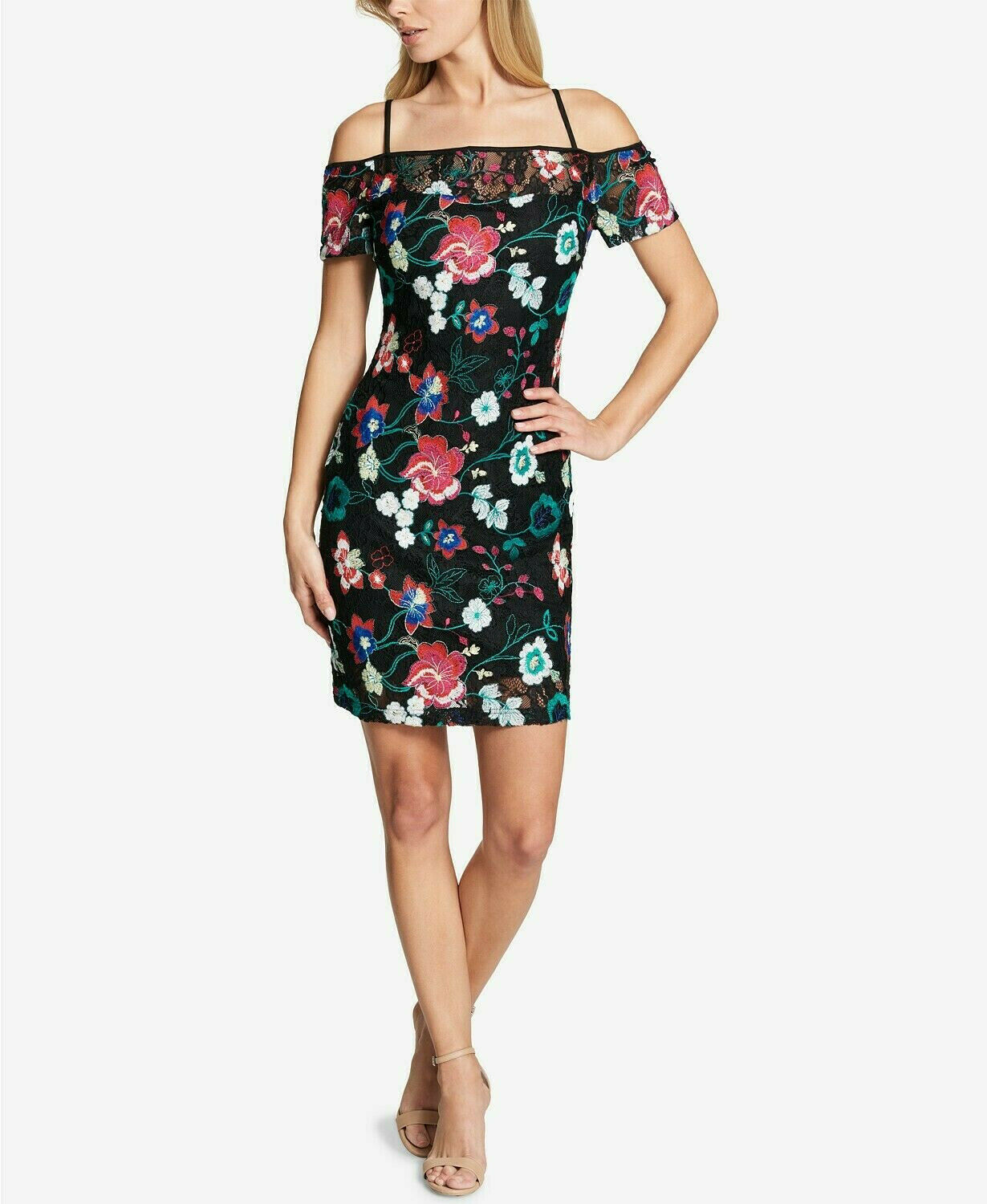 Guess Floral-Print Off-The-Shoulder Dress 4 NWT New  89