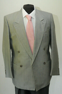 MJ-73B MENS SILVER DOUBLE BREASTED MOHAIR JACKET