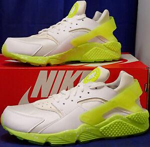 822e96fbaa30 Womens Nike Air Huarache Run iD White Volt SZ 11.5     Mens SZ 10 ...