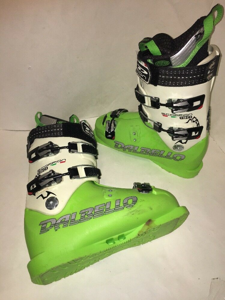 DALBELLO SCORPION 130 SKI Men's  RACE BOOTS SIZE 26.0 8 Green  70% off