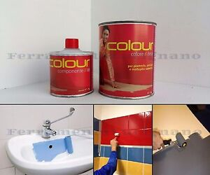 Vernice pittura epossidica bicomponente per piastrelle sanitari