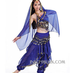 C91807-Belly-Dance-Costume-Top-amp-Pants-amp-Huefttuch-amp-Head-veil-and-Head-necklace